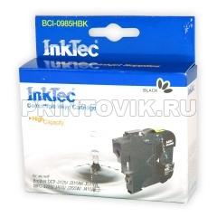 InkTec Картридж BCI-0985HBK (LC985BK) Black для Brother DCP-J125, J315W, J515W, MFC-J265W, J410, J415W