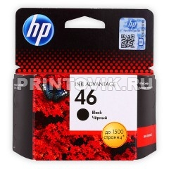 HP Картридж HP 46 (CZ637AE) Black для HP Deskjet Ink Advantage 2020, 2520, Ink Advantage Ultra 2029, 2529, 4729