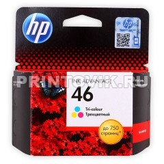 HP Картридж HP 46 (CZ638AE) Color для HP Deskjet Ink Advantage 2020, 2520, Ink Advantage Ultra 2029, 2529, 4729