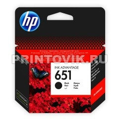 HP Картридж HP 651 (C2P10AE) Black для HP Deskjet Ink Advantage 5575, 5645
