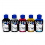 InkTec Набор чернил C5050-C5051 для Canon MG5640, MG6640,  iP7240, iX6840, MG5440, MG5540, MG6440, MX924 (5 x 200 мл)