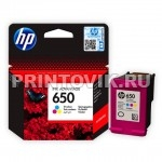 HP Картридж HP 650 (CZ102AE) Color для  HP Deskjet Ink Advantage 1015, 1515, 1516, 2515,  2516, 2545, 2645, 3515, 3545, 4515, 4645